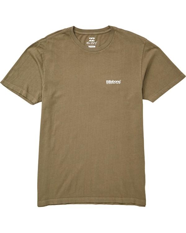 0 Pacific T-Shirt Green MT13QBPA Billabong