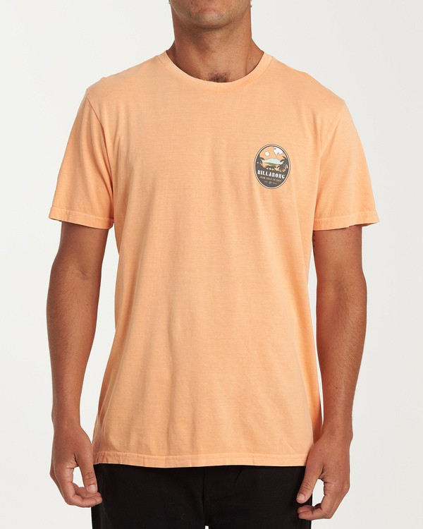 0 Volcano Short Sleeve T-Shirt Orange MT13WBVO Billabong