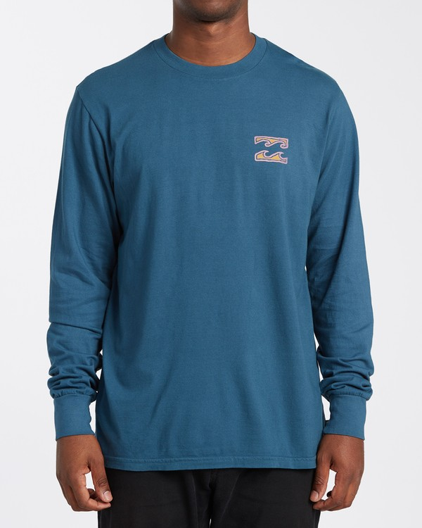 0 Crayon Wave Long Sleeve T-Shirt Blue MT433BCW Billabong