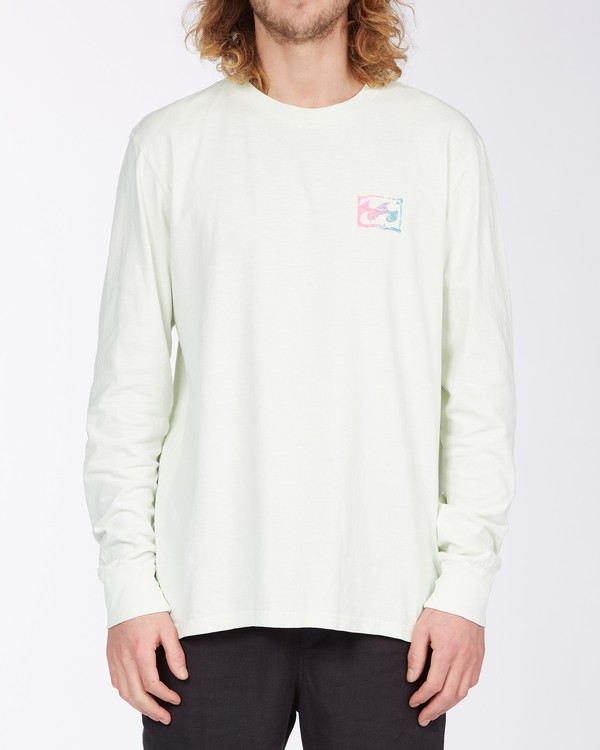 0 Crayon Wave Long Sleeve T-Shirt Multicolor MT433BCW Billabong