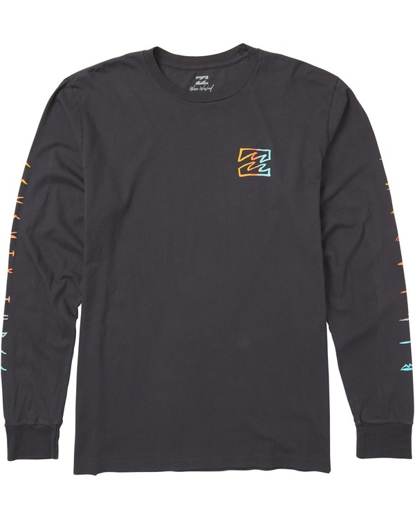 0 Oscura Long Sleeve T-Shirt Grey MT43SBOS Billabong