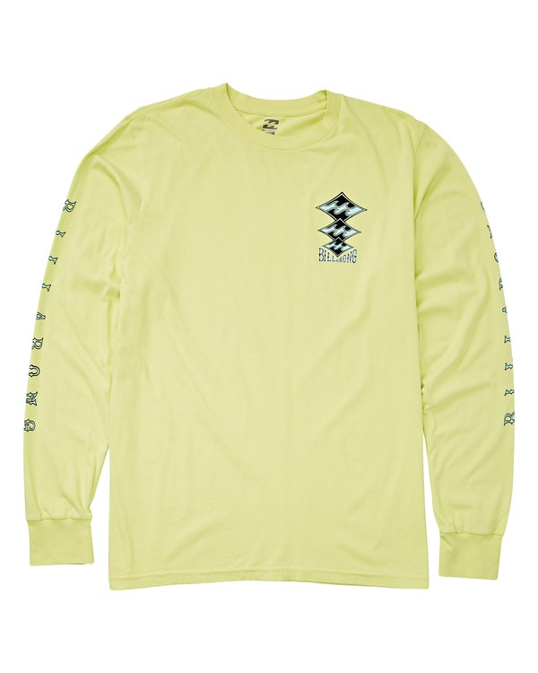 0 Tri Stack Long Sleeve T-Shirt Yellow MT43UBTS Billabong