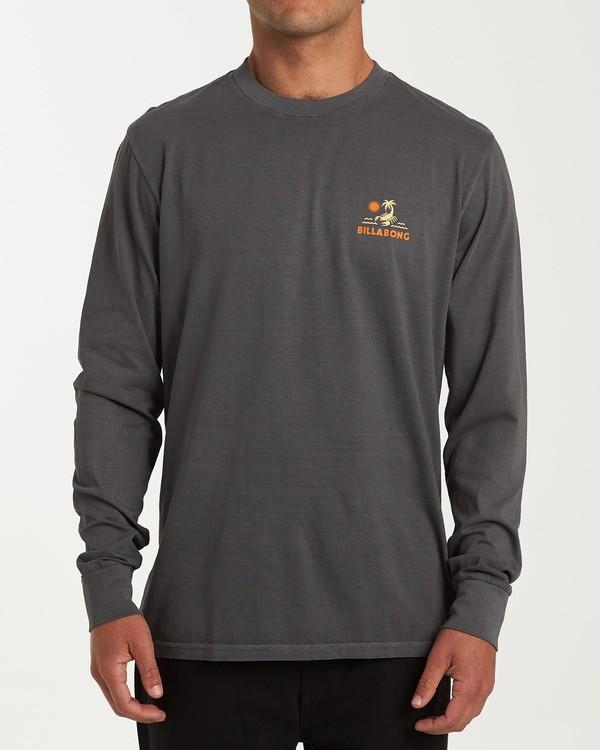 0 Scorpion Palm Long Sleeve T-Shirt Grey MT43WBSC Billabong