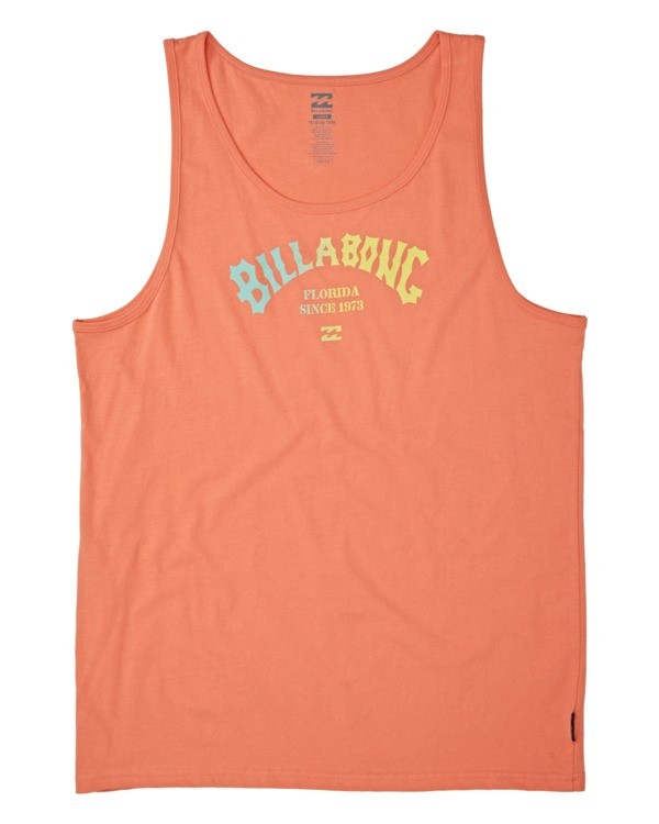 0 Florida Arch Tank Top Orange MT831BFA Billabong