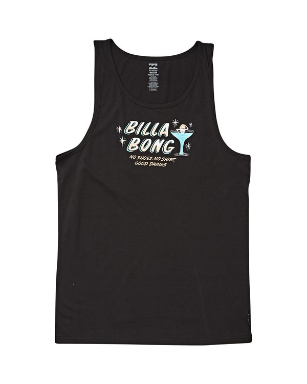 0 No Shoes Tank Black MT83UBNS Billabong