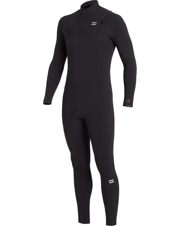 0 4/3 Furnace Comp Chest Zip Wetsuit Black MWFU3BF4 Billabong