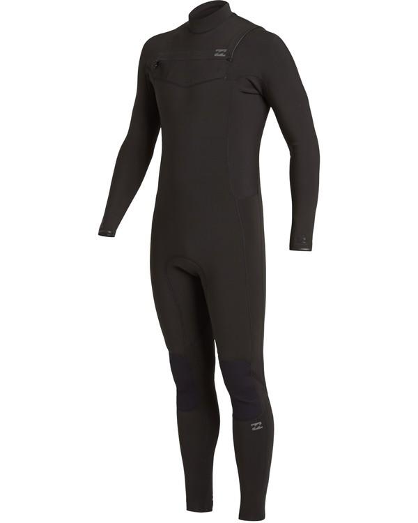 0 3/2 Revolution Chest Zip Wetsuit Black MWFU3BR3 Billabong