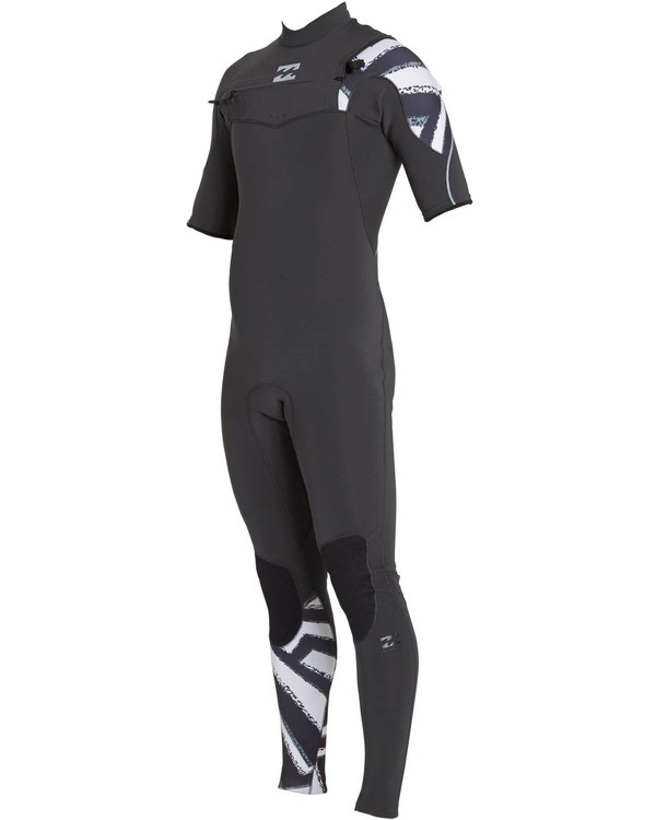 0 202 Furnace Carbon Comp Short Sleeve Fullsuit Black MWFULFC2 Billabong