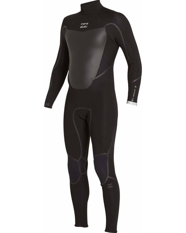 0 4/3 Absolute X Back Zip Fullsuit Black MWFULXB4 Billabong