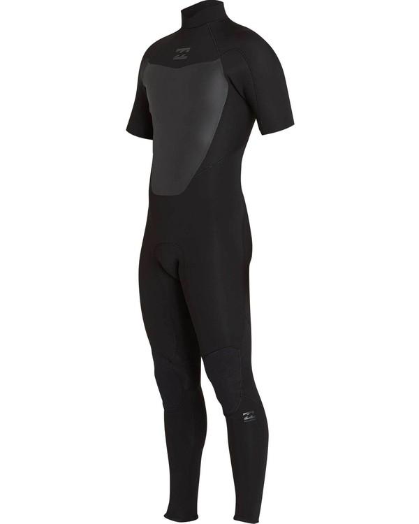 0 2/2 Absolute Comp Back Zip Short Sleeve Springsuit Black MWFUNBG2 Billabong