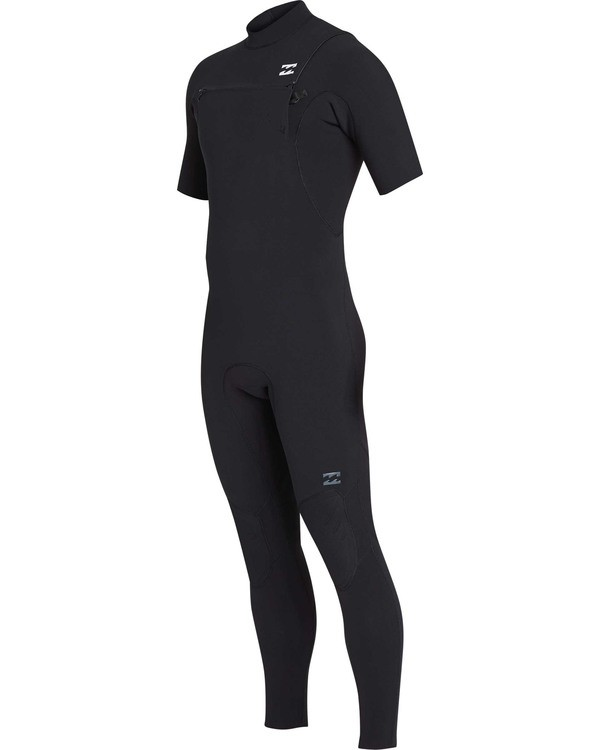 0 2mm Furnace Pro Series Chest Zip Short Sleeve GBS Fullsuit Black MWFUTBS2 Billabong