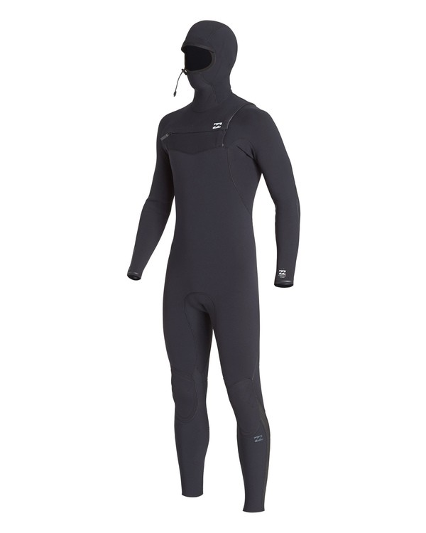 0 4/3 Furnace Comp Chest Zip Hooded Wetsuit Black MWFUVBH4 Billabong