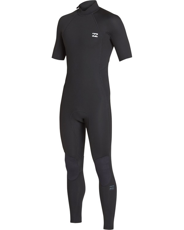 0 2/2 Furnace Revolution Chest Zip Short Sleeve Fullsuit Black MWFUVBV2 Billabong