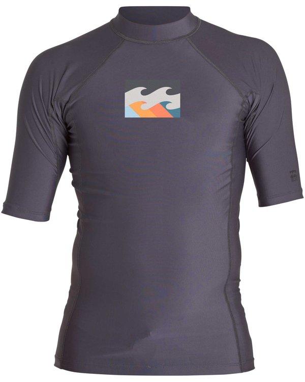 0 All Day Wave Short Sleeve Wetshirt Brown MWLYJICS Billabong