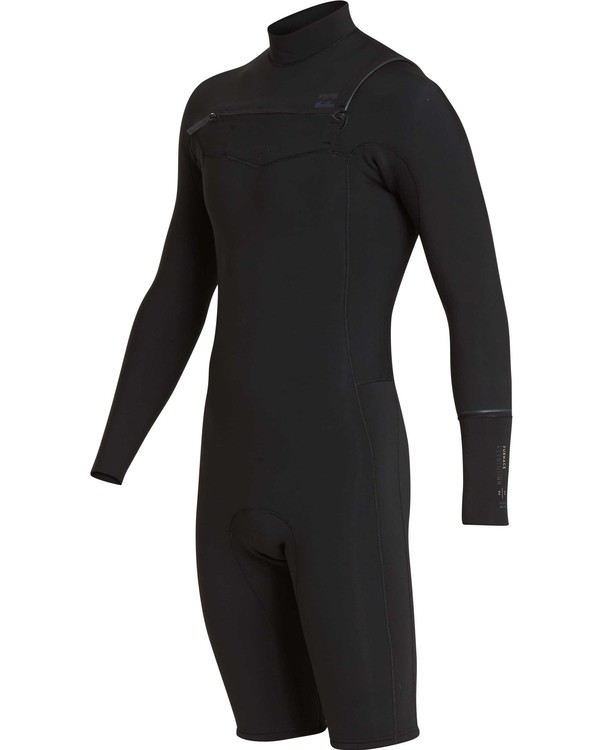 0 2mm Revolution Chest Zip Long Sleeve Springsuit Black MWSPQBRL Billabong