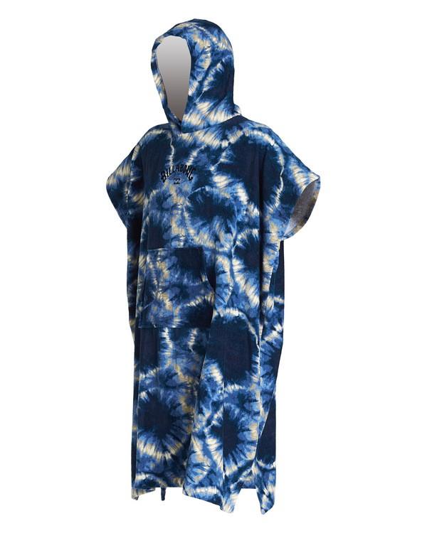 0 Hooded Poncho Blue MWTW1BHT Billabong