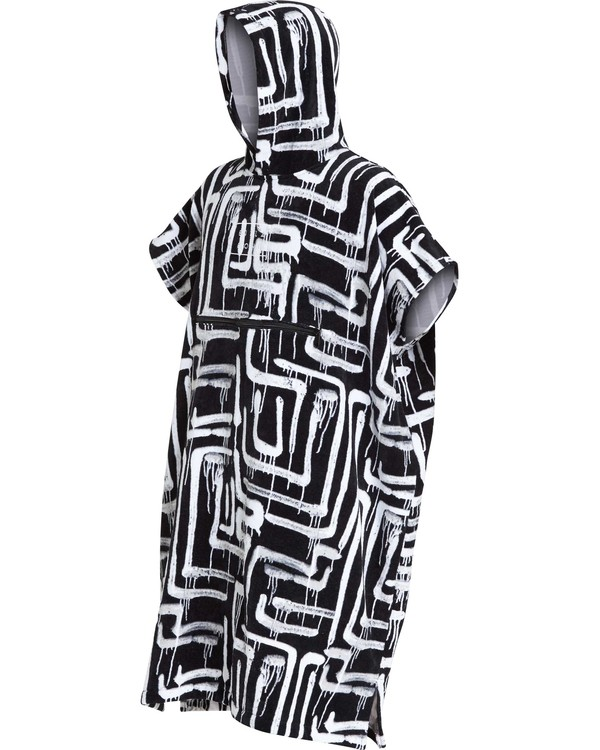 0 Hooded Poncho Black MWTWQBHT Billabong