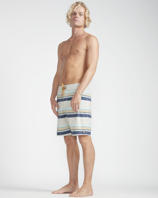 "0 Sundays Stripe Pro 19"" Boardshorts Grey N1BS08BIP9 Billabong"