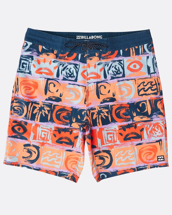 "0 Sundays Lo Tides 18"" Boardshorts Orange N1BS21BIP9 Billabong"