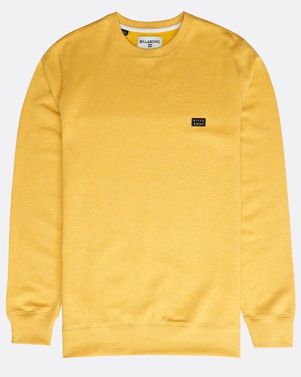 0 All Day Crew Sweatshirt Gelb N1FL01BIP9 Billabong