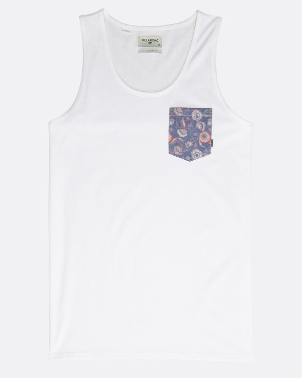 0 All Day Printed Tank Top Weiss N1JE01BIP9 Billabong