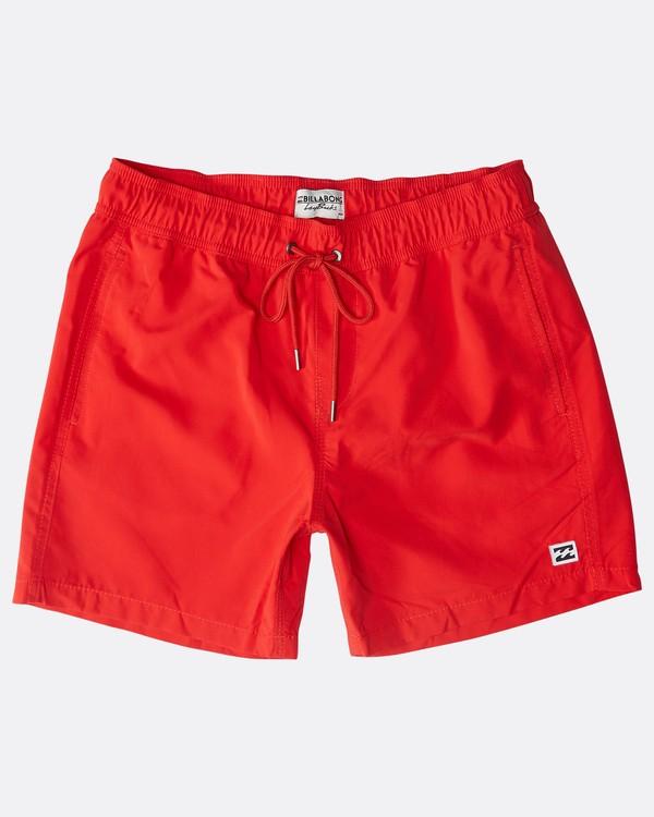 "0 All Day Laybacks 16"" Boardshorts Rojo N1LB01BIP9 Billabong"