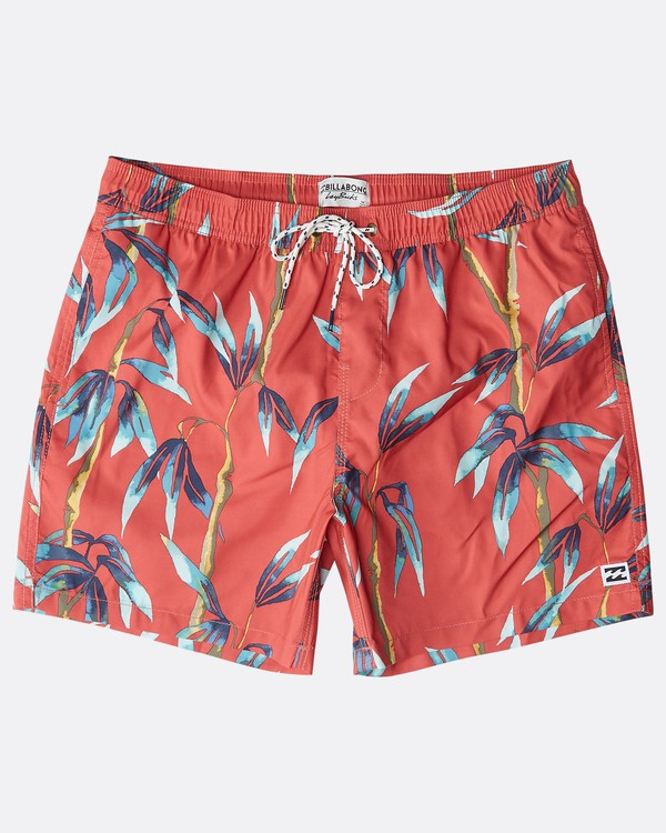 """0 Sundays Laybacks 16"""" Boardshorts Rojo N1LB04BIP9 Billabong"""