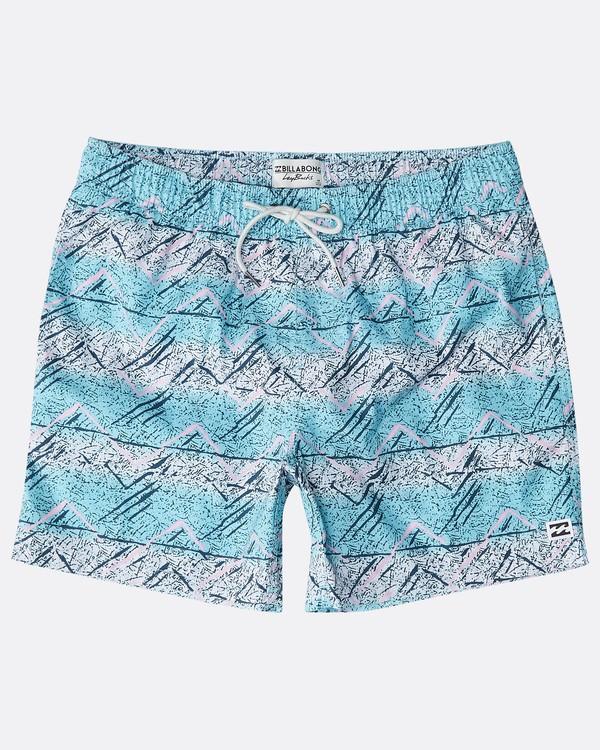 """0 Sunday Pigment Laybacks 16"""" Boardshorts Azul N1LB17BIP9 Billabong"""