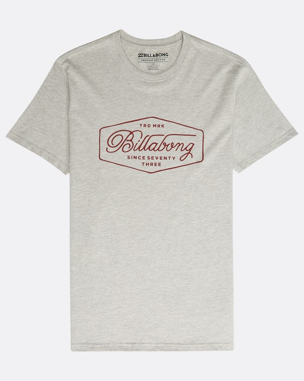 0 Trademark T-Shirt Grey N1SS15BIP9 Billabong