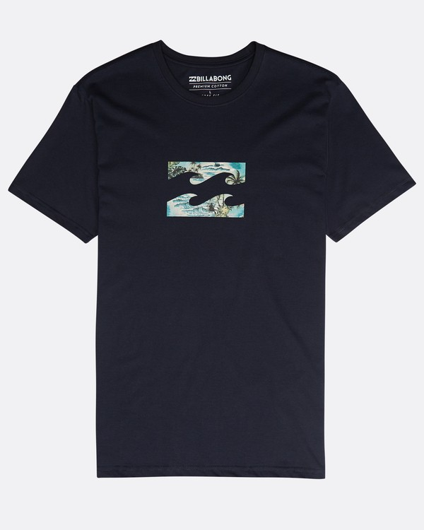 0 Team Wave Team T-Shirt Azul N1SS19BIP9 Billabong