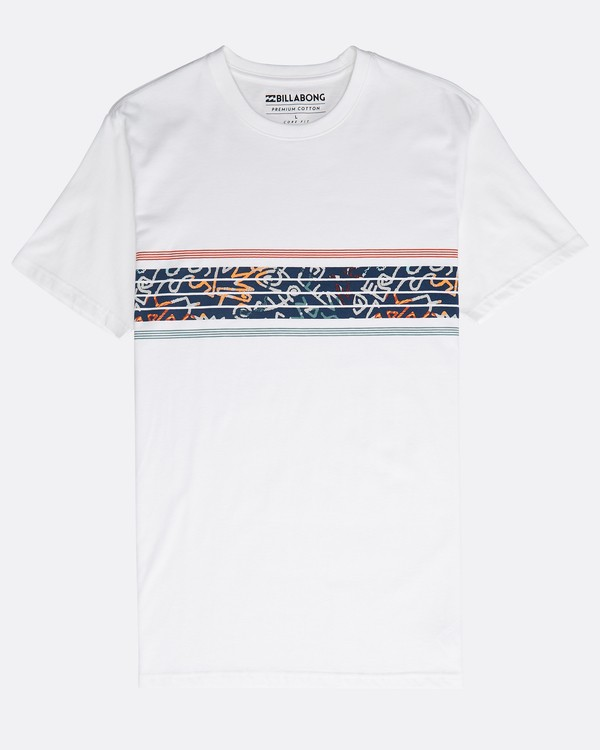 0 Team Stripes T-Shirt Blanco N1SS24BIP9 Billabong