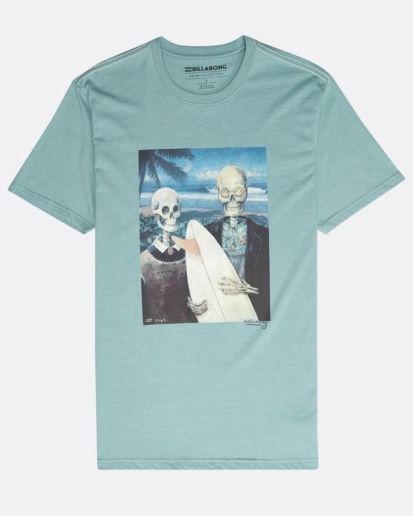 0 Hawaiian Gothic T-Shirt Grün N1SS34BIP9 Billabong