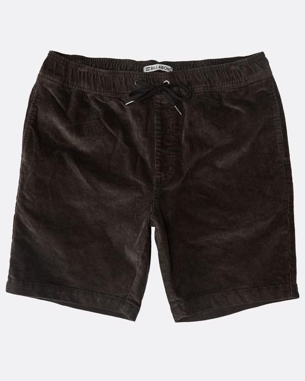 0 Larry Layback Corduroy Shorts Schwarz N1WK18BIP9 Billabong