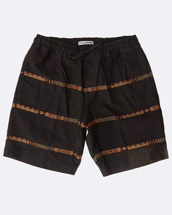 0 Larry Layback Jacquard Shorts Schwarz N1WK27BIP9 Billabong
