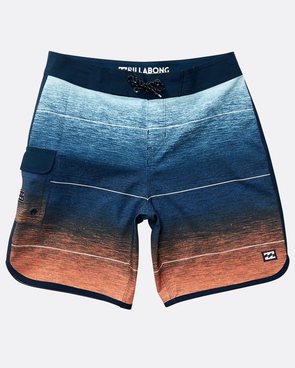 0 Boys' 73 Stripe Pro Boardshorts Orange N2BS02BIP9 Billabong