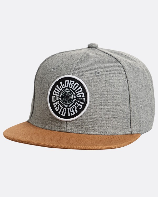 0 Boys' Spirit Walker Snapback Hat Gris N2CM04BIP9 Billabong