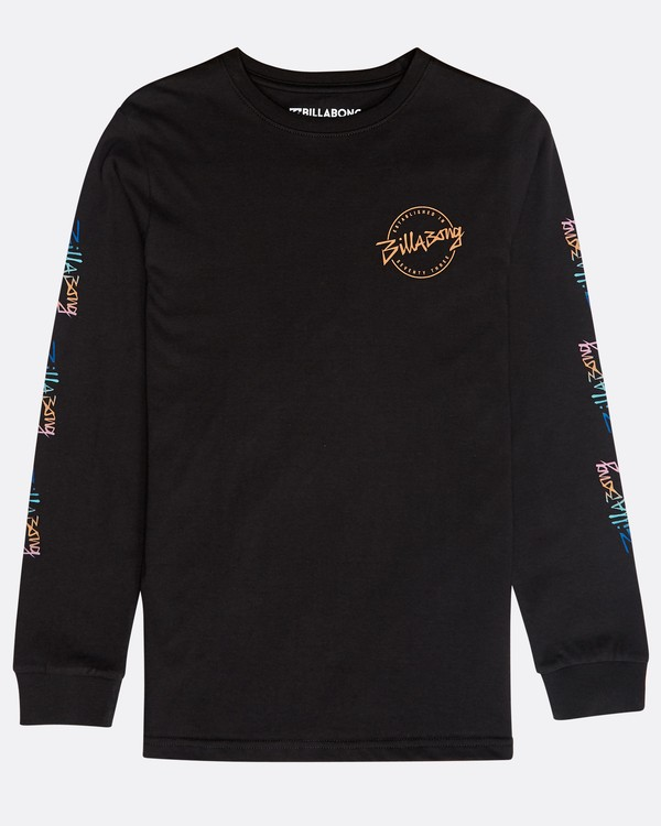 0 Boys' Eighty Six Long Sleeve T-Shirt Negro N2LS01BIP9 Billabong
