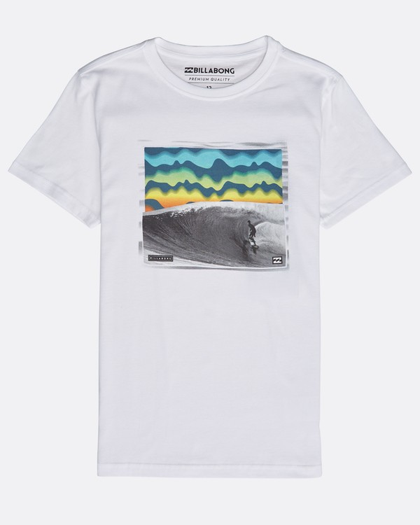 0 Boys' High Line T-Shirt Blanco N2SS06BIP9 Billabong