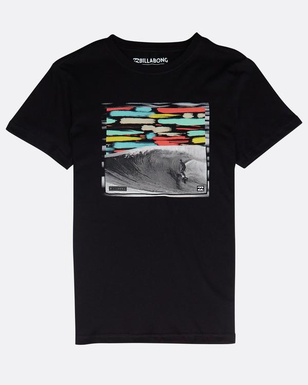 0 Boys' High Line T-Shirt Schwarz N2SS06BIP9 Billabong