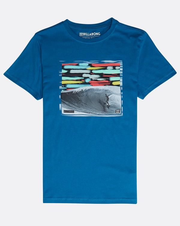 0 Boys' High Line T-Shirt Blau N2SS06BIP9 Billabong