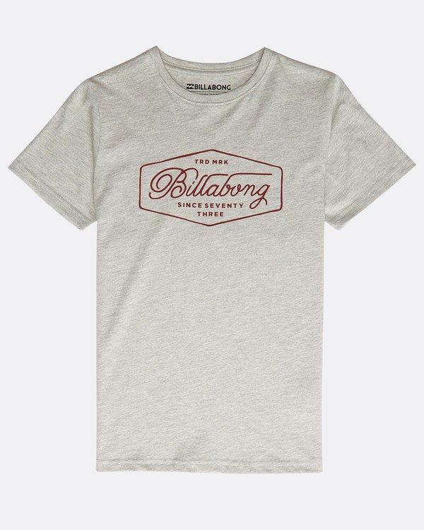 0 Boys' Trademark T-Shirt Gris N2SS09BIP9 Billabong