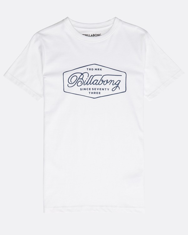 0 Boys' Trademark T-Shirt Weiss N2SS09BIP9 Billabong
