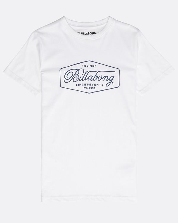0 Boys' Trademark T-Shirt Blanco N2SS09BIP9 Billabong