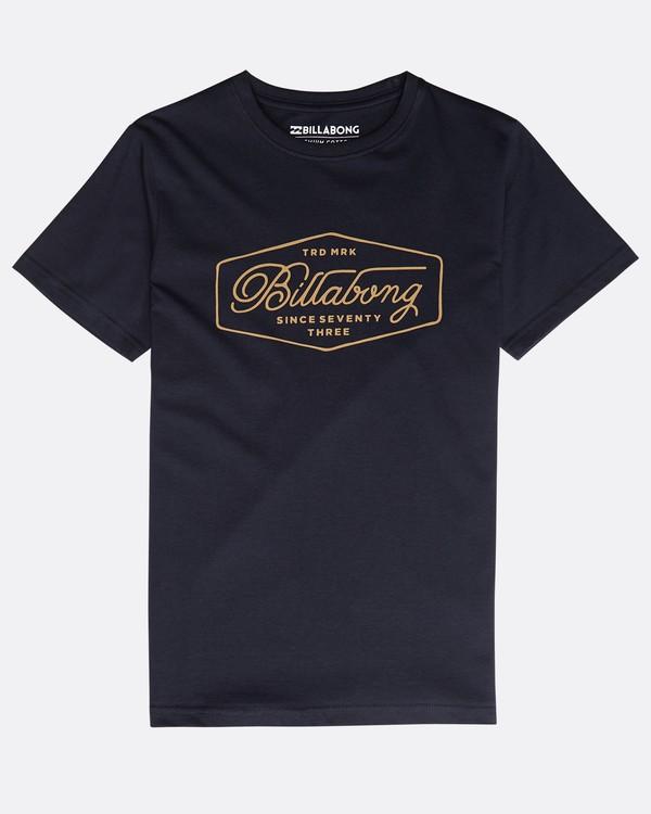 0 Boys' Trademark T-Shirt Blau N2SS09BIP9 Billabong