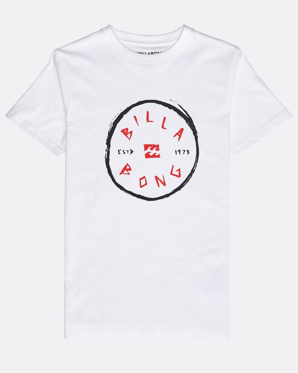 0 Boys' Rotohand T-Shirt Blanco N2SS10BIP9 Billabong