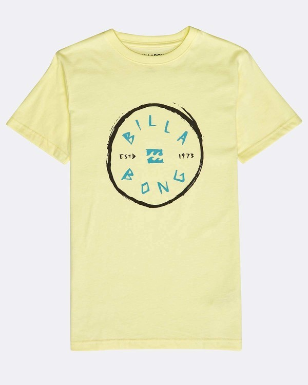 0 Boys' Rotohand T-Shirt Amarillo N2SS10BIP9 Billabong