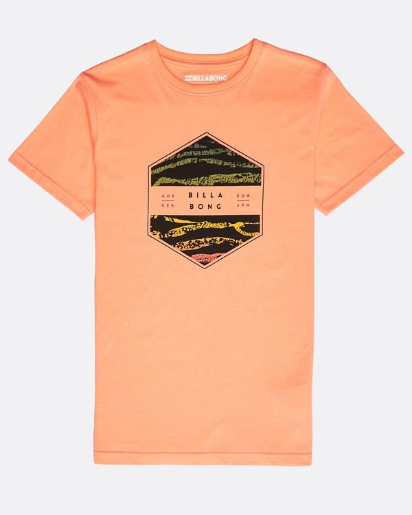 0 Boys' Access T-Shirt Naranja N2SS11BIP9 Billabong