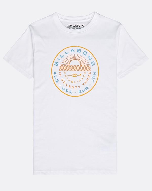 0 Boys' Rock Point T-Shirt Weiss N2SS14BIP9 Billabong