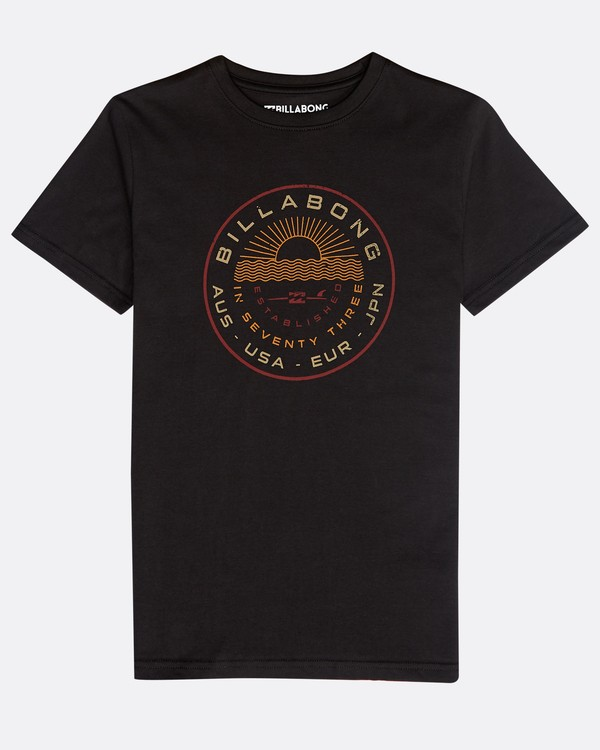0 Boys' Rock Point T-Shirt Schwarz N2SS14BIP9 Billabong