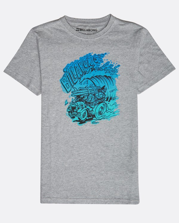 0 Boys' Surf Attack T-Shirt Gris N2SS18BIP9 Billabong
